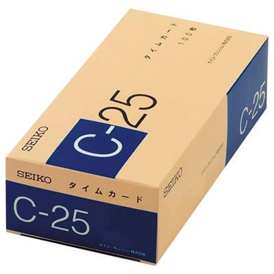 セイコー CA-C25 タイムカード C25カード