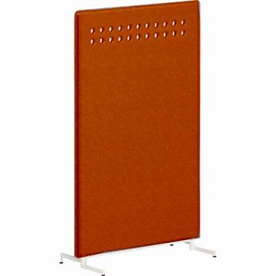 ライブスパネル スタンディング 丸穴模様 高さ1460 オレンジレッド/ライトグレー