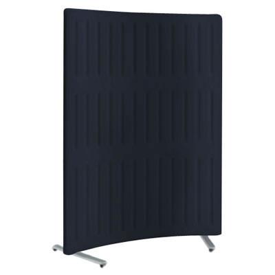 フリースタンディングパネル マッフル Rパネル 単体 キャスター付 高さ1700 ブラックベリー 枠:ブラック