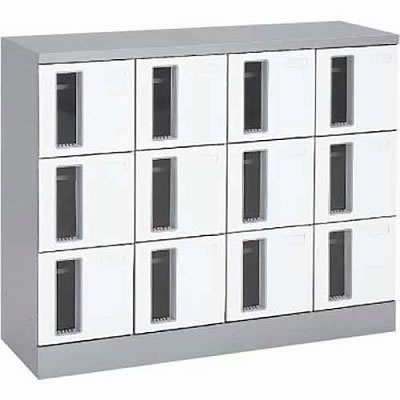 共用スペースザパート扉付12人窓付シリンダー錠 ネオホワイト