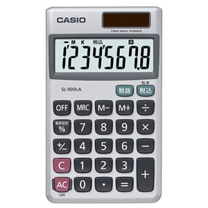 CASIO SL-900LA-N 電卓 8桁 手帳サイズ
