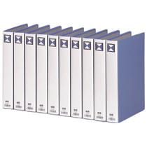 TPFA4-3W 両開きパイプ式ファイル A4タテ 300枚収容 30mmとじ 背幅46mm 青