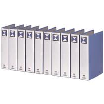 TPFA4-5W 両開きパイプ式ファイル A4タテ 500枚収容 50mmとじ 背幅66mm 青