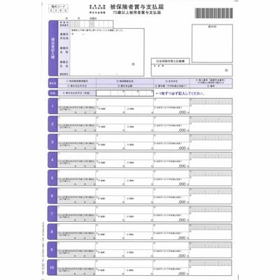 オービック 5165 単票被保険者賞与支払届