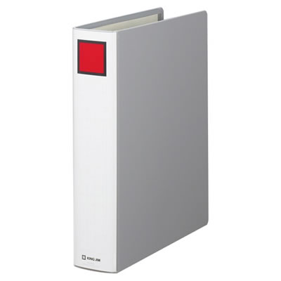 KINGJIM 1475 スーパードッチファイル A4S グレー 10冊セット