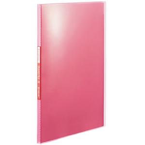 KINGJIM TH184TSPP シンプリーズ クリアーファイル(透明) A4タテ 20ポケット 背幅12mm ピンク