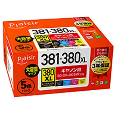 Plaisir PLE-C381-5P インク マルチパック 汎用品 PLE-C381(BK/C/M/Y)+PLE-C380XLB