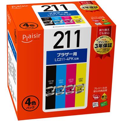Plaisir PLE-BR211-4P インク 4色パック 汎用品