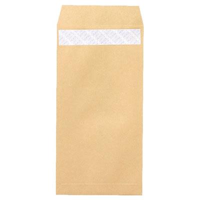 ピース 496 R40再生紙クラフト封筒 テープのり付 長3 70g/m2 〒枠あり 業務用パック