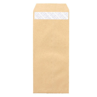 ピース 441 R40再生紙クラフト封筒 テープのり付 長4 70g/m2 〒枠あり 業務用パック