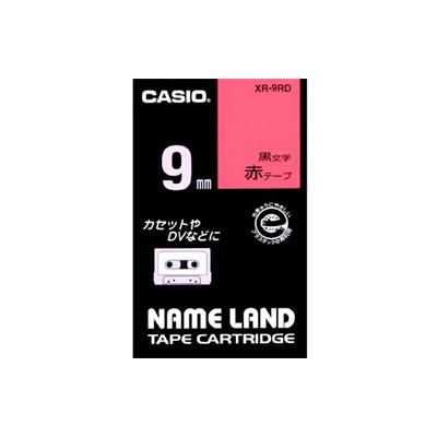 CASIO XR-9RD スタンダードテープ 9mm 赤 黒文字