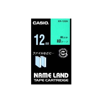 CASIO XR-12GN スタンダードテープ 12mm 緑 黒文字