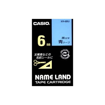 CASIO XR-6BU スタンダードテープ 6mm 青 黒文字