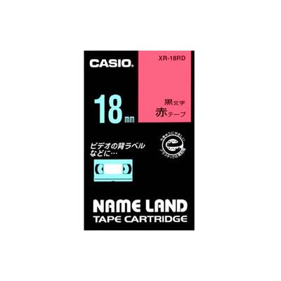 CASIO XR-18RD スタンダードテープ 18mm 赤 黒文字