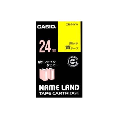 CASIO XR-24YW スタンダードテープ 24mm 黄 黒文字