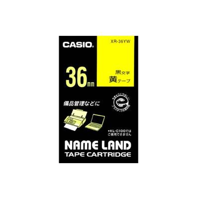 CASIO XR-36YW スタンダードテープ 36mm 黄 黒文字