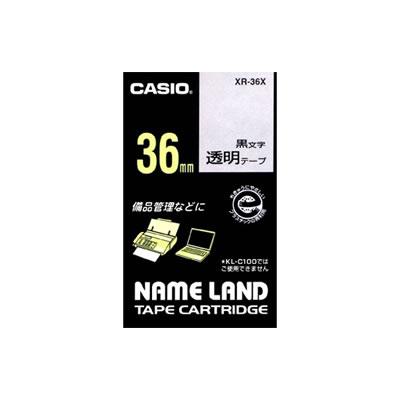 CASIO XR-36X スタンダードテープ 36mm 透明 黒文字