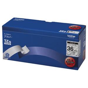 BROTHER TZE-161V ピータッチ TZeテープ ラミネートテープ 36mm 透明/黒文字 業務用パック