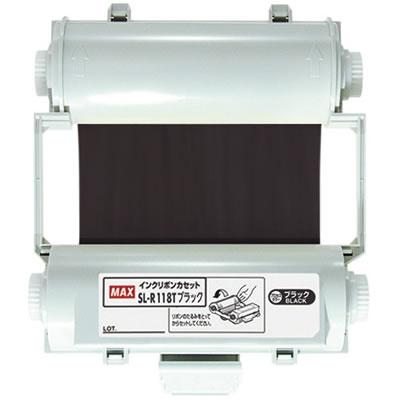 マックス SL-R118Tブラック 100タイプ プロセスカラーインクリボン ブラック