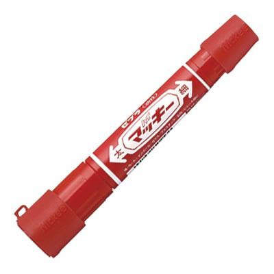 ゼブラ P-MO-150-MC-RJ ハイマッキー 両用 キャップジャケット付 赤 10本セット