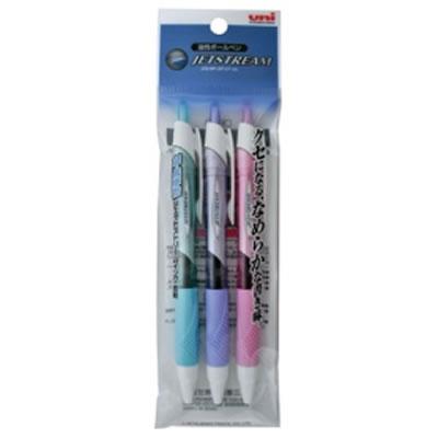 三菱鉛筆 SXN15005.3C 油性ボールペン ジェットストリーム 0.5mm 黒カラー軸 アソート(3色各1本)