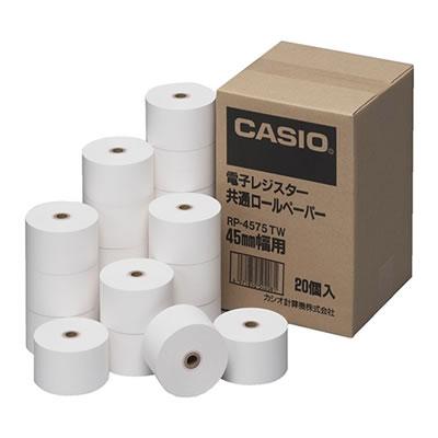 CASIO RP-4575-TW 電子レジスター共通ロールペーパー 紙幅45mm 20個入
