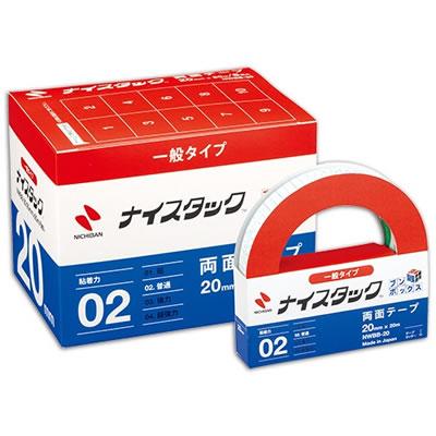 ニチバン NWBB-20 ナイスタック 再生紙両面テープ ブンボックス 大巻 20mm×20m
