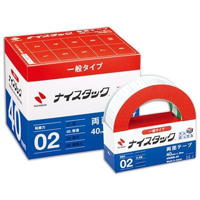 ニチバン NWBB-40 ナイスタック 再生紙両面テープ ブンボックス 大巻 40mm×20m