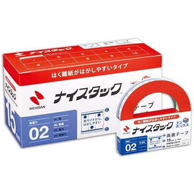 ニチバン NWBB-DE15 ナイスタック はくり紙がはがしやすい両面テープ ブンボックス 大巻 15mm×18m