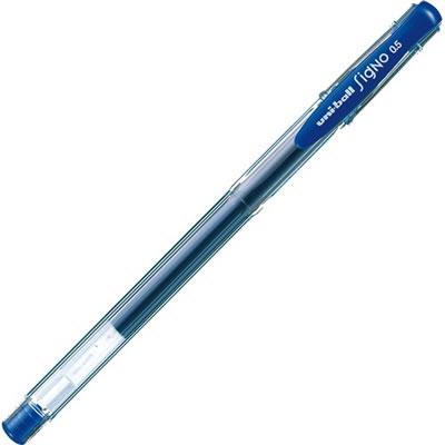 三菱鉛筆 UM100EW.33 ゲルインクボールペン ユニボール シグノ エコライター 0.5mm 青 10本セット