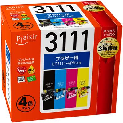 Plaisir PLE-BR3111-4P インク 4色パック 汎用品