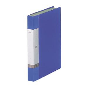 LIHIT G3202-8 リクエスト クリヤーブック A4タテ 40ポケット 背幅32mm 青