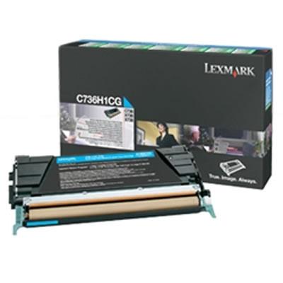 LEXMARK C736H1CG リターンプログラムトナーカートリッジ・シアン(大容量/10000枚)