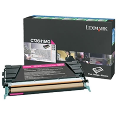 LEXMARK C736H1MG リターンプログラムトナーカートリッジ・マゼンタ(大容量/10000枚)