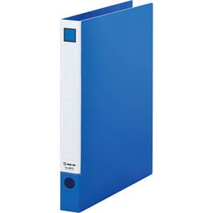 KINGJIM 6672アオ レバーリングファイル A4タテ 2穴 250枚収容 背幅33mm 青