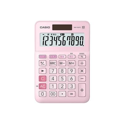 CASIO MW-100TC-PK-N W税計算対応電卓 10桁 ピンク
