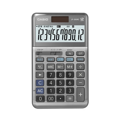 CASIO JF-200RC-N 軽減税率計算対応電卓 12桁