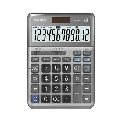 CASIO DF-200RC-N 軽減税率計算対応電卓 12桁