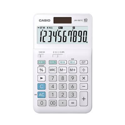 CASIOJW-100TC-N W税計算対応電卓 10桁