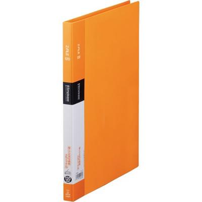KINGJIM 578SPオレ シンプリーズ Zファイル A4タテ 120枚収容 背幅17mm オレンジ