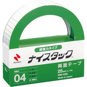 ニチバン NW-U25 ナイスタック 両面テープ 超強力タイプ 25mm×1m