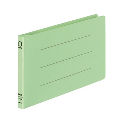 コクヨ フ-V49G 統一伝票用フラットファイル樹脂製とじ具B4 1/3横 10冊セット 緑