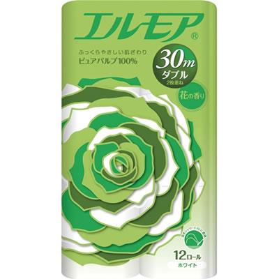 カミ商事 エルモアF12R30 エルモア 花の香り ダブル 芯あり 30m