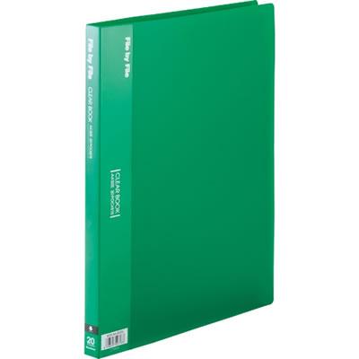 ビュートン BCB-A4-20GN クリヤーブック A4タテ 20ポケット グリーン 10冊