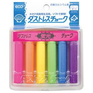 日本理化学 DCK-6-6C ダストレス蛍光チョーク 6色(各色1本)