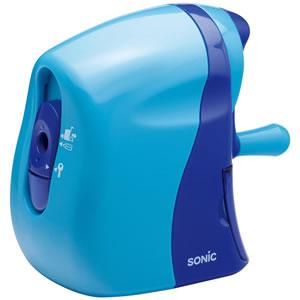 ソニック SK-802-B かるハーフ 手動鉛筆削り 青