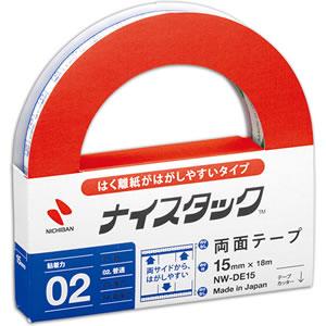 ニチバン NW-DE15 ナイスタック 両面テープ はくり紙がはがしやすいタイプ 大巻 15mm×18m