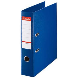 エセルテ 48065 レバーアーチファイル A4タテ 550枚収容 背幅75mm ブルー