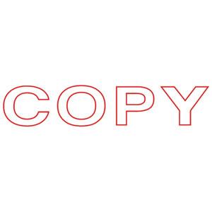 TMSP-CP スタンパー 「COPY」 赤 汎用品