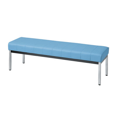 ロビーチェア ベンチハイタイプ 1500幅 ブルー